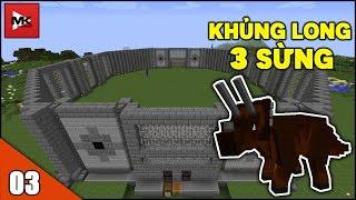 2 Bé Khủng Long 3 Sừng Triceratops Đã Ra Đời - Minecraft Khủng Long Thời Hiện Đại [3] | MK Gaming