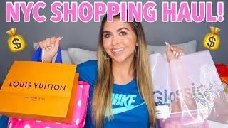 $1000 NYC SHOPPING SPREE HAUL! (Louis Vuitton, glossier & WAY MORE)