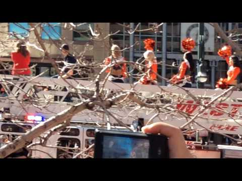 Denver Broncos Super Bowl 50 Parade 2016 - Cheerleaders