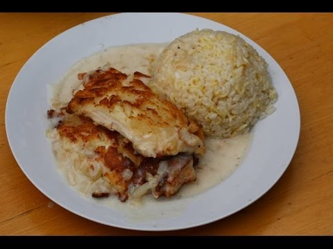 Рецепт Шницель по-Министерски с рисом-пилав