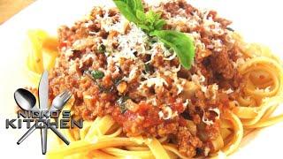 Fettuccine Bolognese - Video Recipe