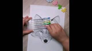 раскраска антистресс в виде лисы(ЧАСТЬ 1)