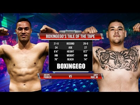 "Joseph Parker vs Andy ""The Destroyer"" Ruiz Jr. Tale Of The Tape WBO CB (BOXINGEGO FIRST LOOK)"