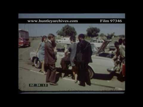 Ndola in Zambia, 1960's.  Archive film 97346