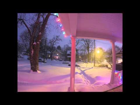 Winter Storm Linus Time Lapse in Ann Arbor, MI