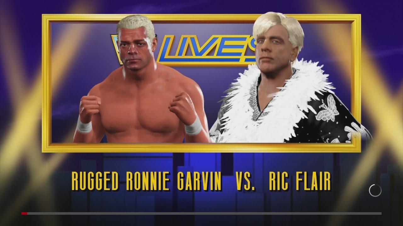 WWE 2K17   Rugged Ronnie Garvin Vs. Ric Flair