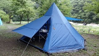 いつものメンバーと新戸キャンプ場で一泊。 夕方から雨が降り出し、翌朝...
