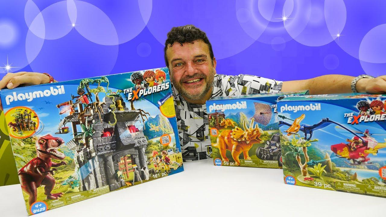 ¡Abrimos juguetes Playmobil Explorers! Los mejores juguetes de dinosaurios para niños