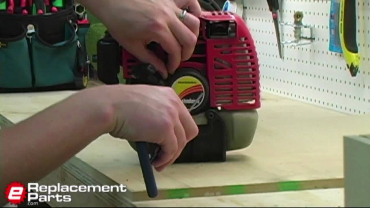 How To Replace The Starter On A Trimmer Youtube Ryobi Ry30240 Parts List And Diagram Ereplacementpartscom