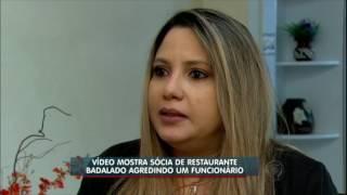 Flagra: funcionário apanha de sócia de restaurante famoso em São Paulo