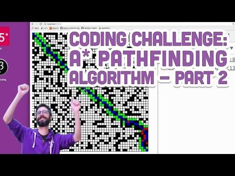 Coding Challenge 51.2: A* Pathfinding Algorithm - Part 2