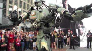 Giant Robot Greets Comic Con Crowd WIRED YouTube Geek Week