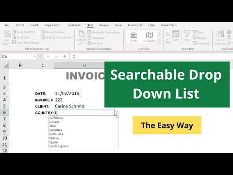 Searchable Drop-Down List in Excel - The Easy Way