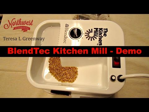 Beau Blendtec Grain / Flour Mill Demo   Milling Grain To Flour   YouTube