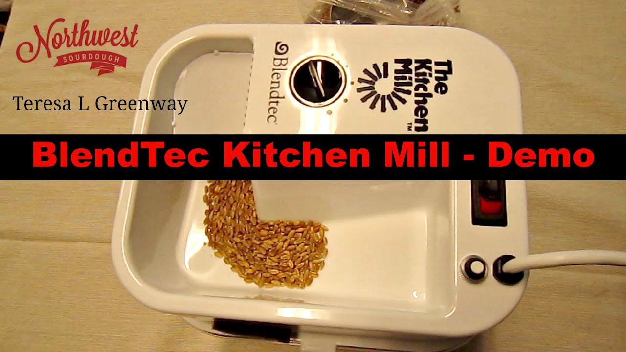 Blendtec Kitchen Mill How Much Does It Cost To Remodel A Small Grain Flour Demo Milling Youtube