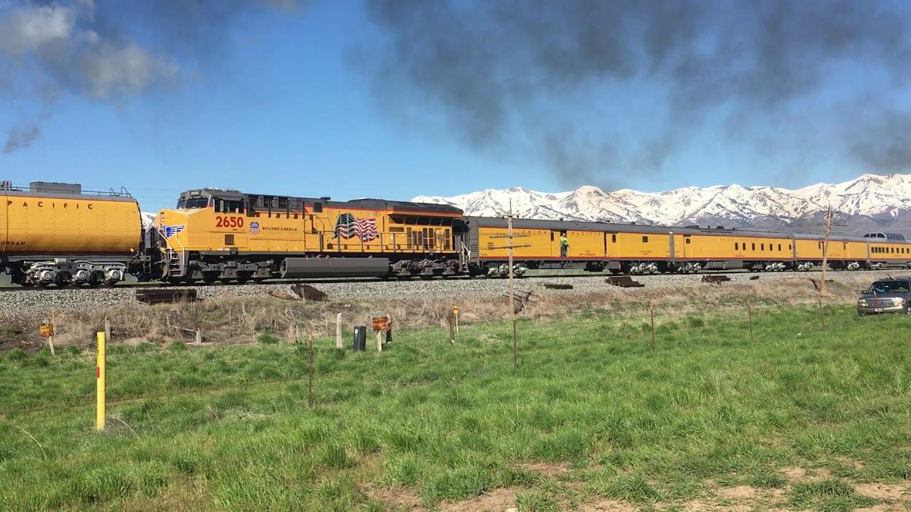 Union Pacific Big Boy 4014 & 844 at Morgan Utah 5 12 19