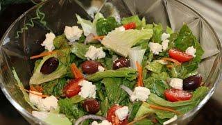 Полезный Греческий салат с вкусной заправкой - Очень Вкусно!