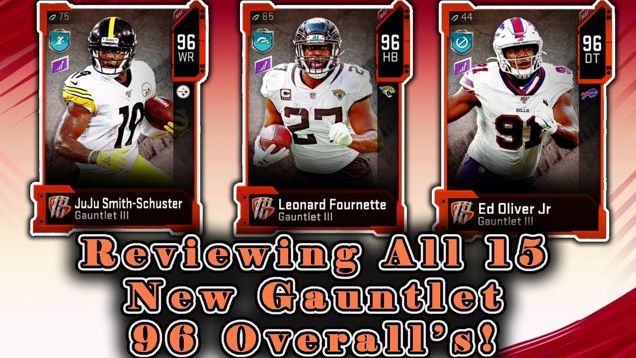 Ranking All 15 New Gauntlet 96 Ovr Players Cards You Didn T Know About Madden 20 Ultimate Team Youtube