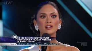 [HD] Miss Universe 2015: Top 5 Question and Answer