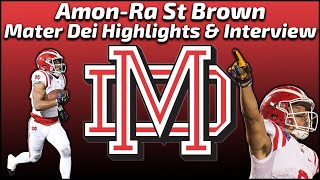 Amon-Ra St Brown - Mater Dei Wide Receiver - Highlights/Interview - Sports Stars of Tomorrow
