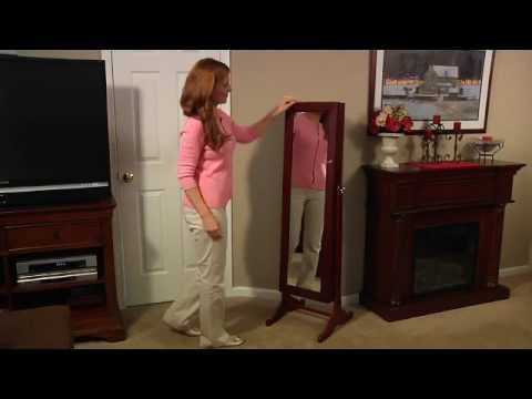 Free Standing Jewelry Cabinet Mirror By Lori Greiner