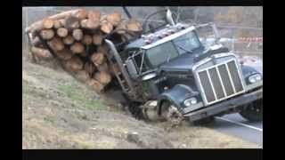 Repeat youtube video Ditched Kenworth Log Truck Recovery