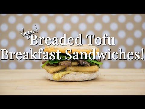 Vegan Breaded Tofu Breakfast Sandwiches – Logical Harmony