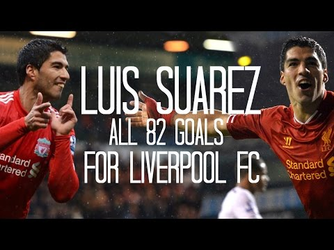 Luis Suarez - All 82 Goals for Liverpool FC - 2011/2014 - English Commentary (Just Goals)