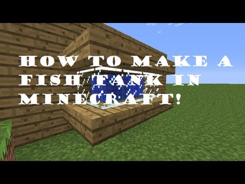 how to make a fish tank in minecraft 1 4 6 youtube. Black Bedroom Furniture Sets. Home Design Ideas