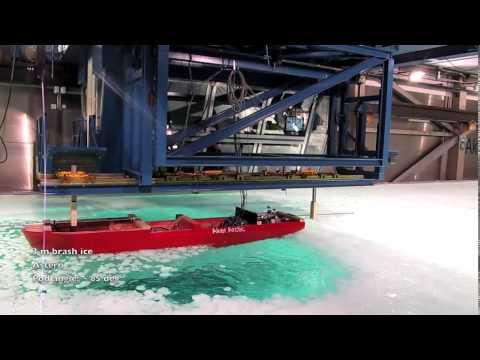 Aker Arctic ARC 105 CRP 2012, Ice breaking model tests