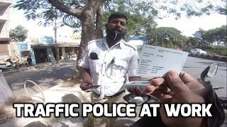 Busted | Caught by Bangalore traffic police.
