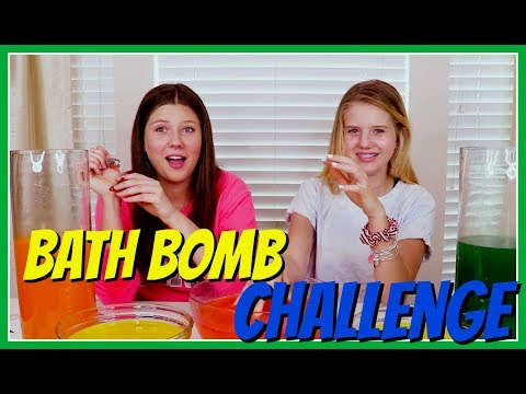 MYSTERY BATH BOMB CHALLENGE || Taylor and Vanessa