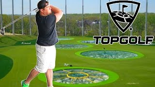 TOP GOLF DRIVING RANGE CHALLENGE GIANT HOLE IN ONE GOLF COURSE