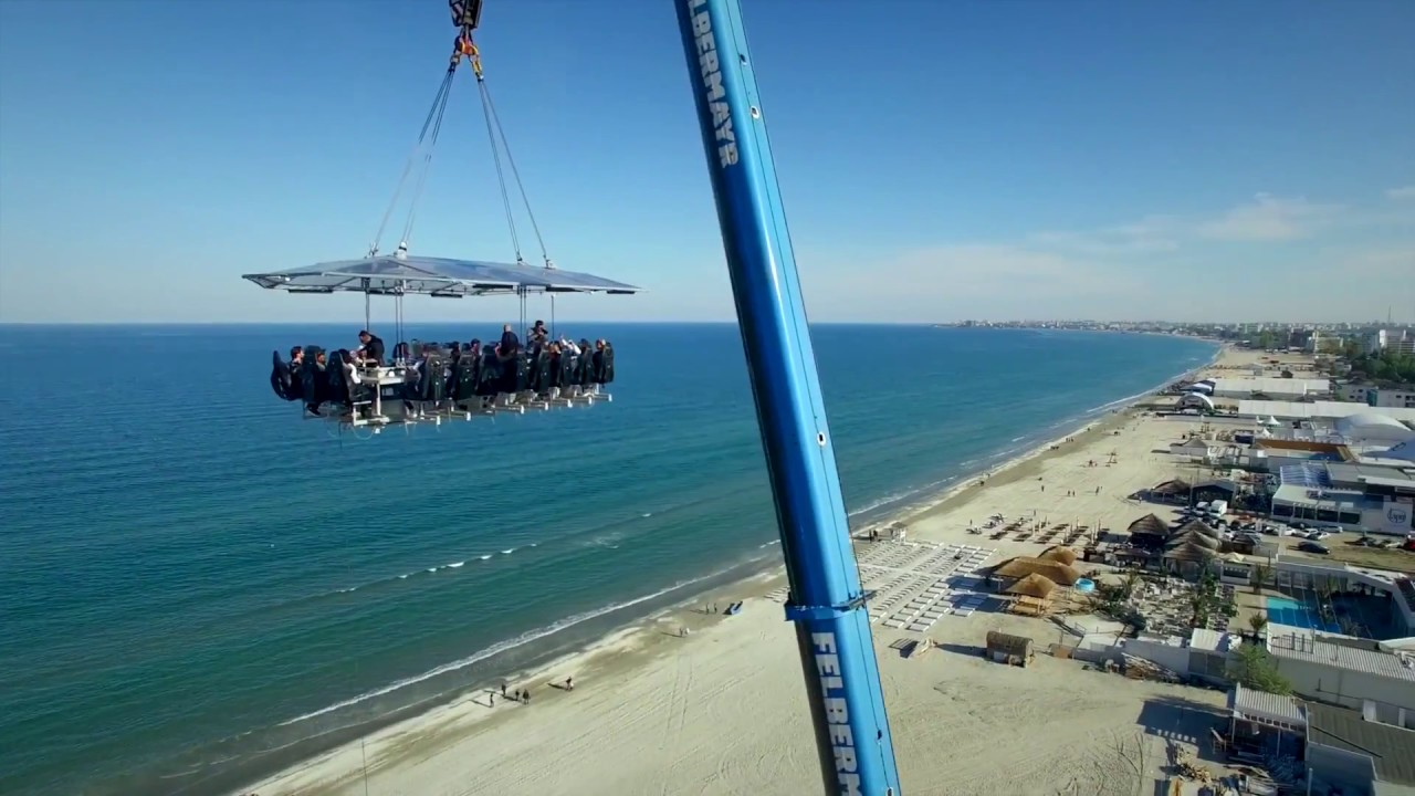 Dinner In The Sky Varna YouTube - Dinner in the sky an unforgettable experience