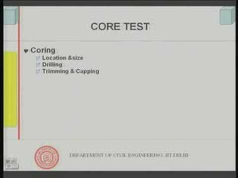 Module 6 Lecture - 6 Strength of Concrete : Non Destructive