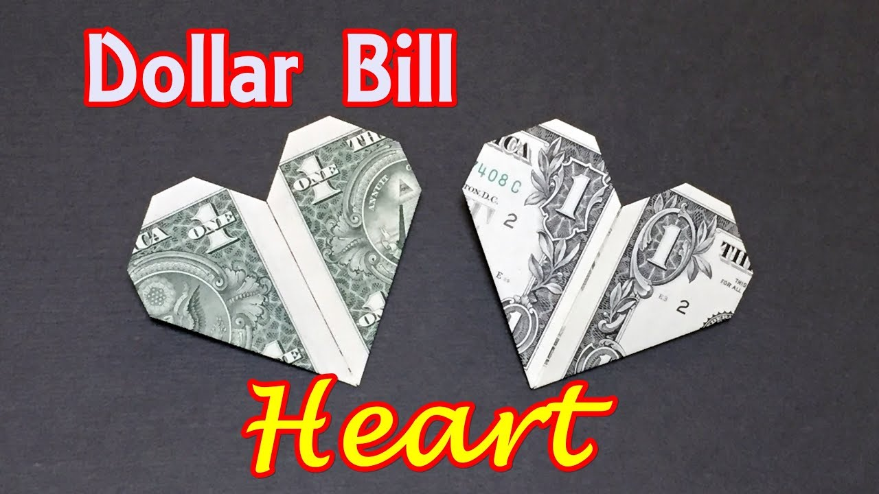 Dollar bill origami heart how to fold heart out of money dollar bill origami heart how to fold heart out of money origami easy for beginners jeuxipadfo Images