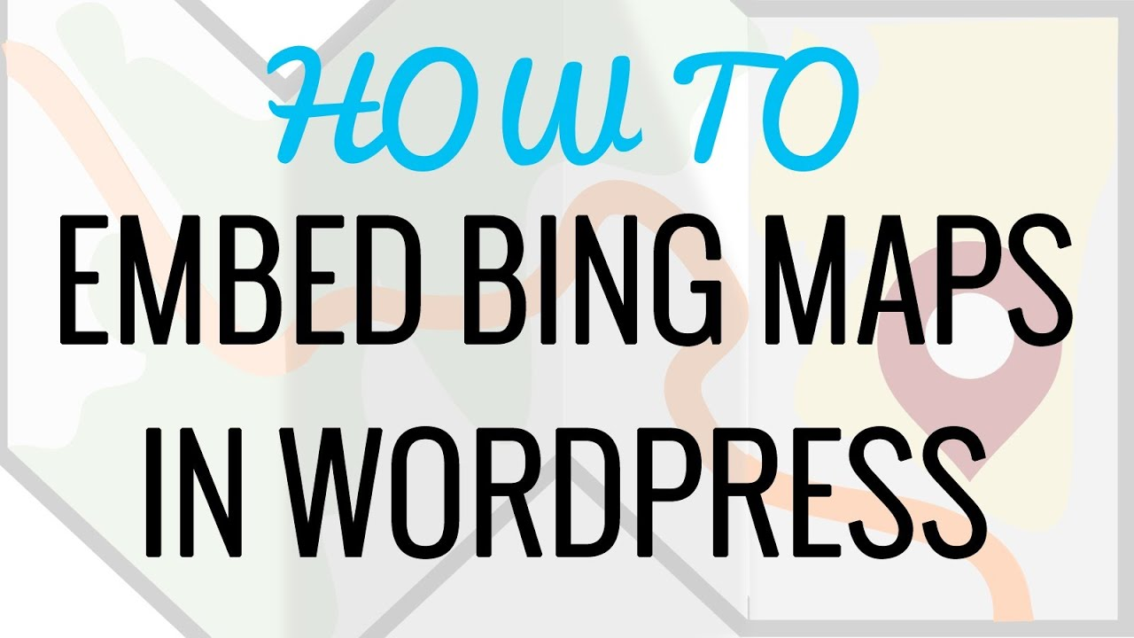 Bing Karte.How To Embed Bing Maps In Wordpress