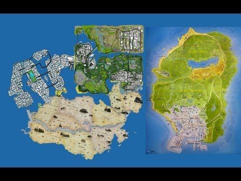 Gta 5 Map Size Comparison Vs Skyrim Vs Gta 4 Vs Red Dead