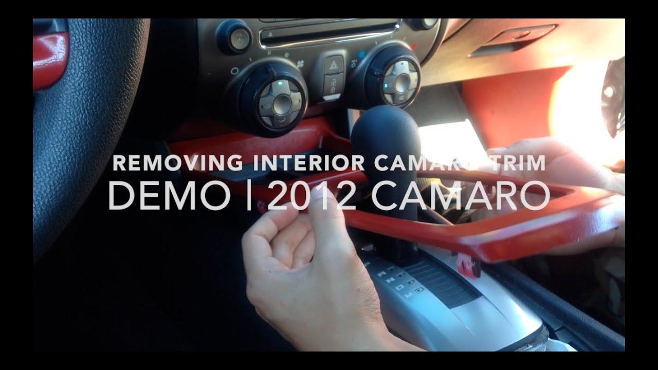 HOW TO: Taking Off Camaro Interior Trim | 2012 Camaro | For 5th Gen Camaros    YouTube