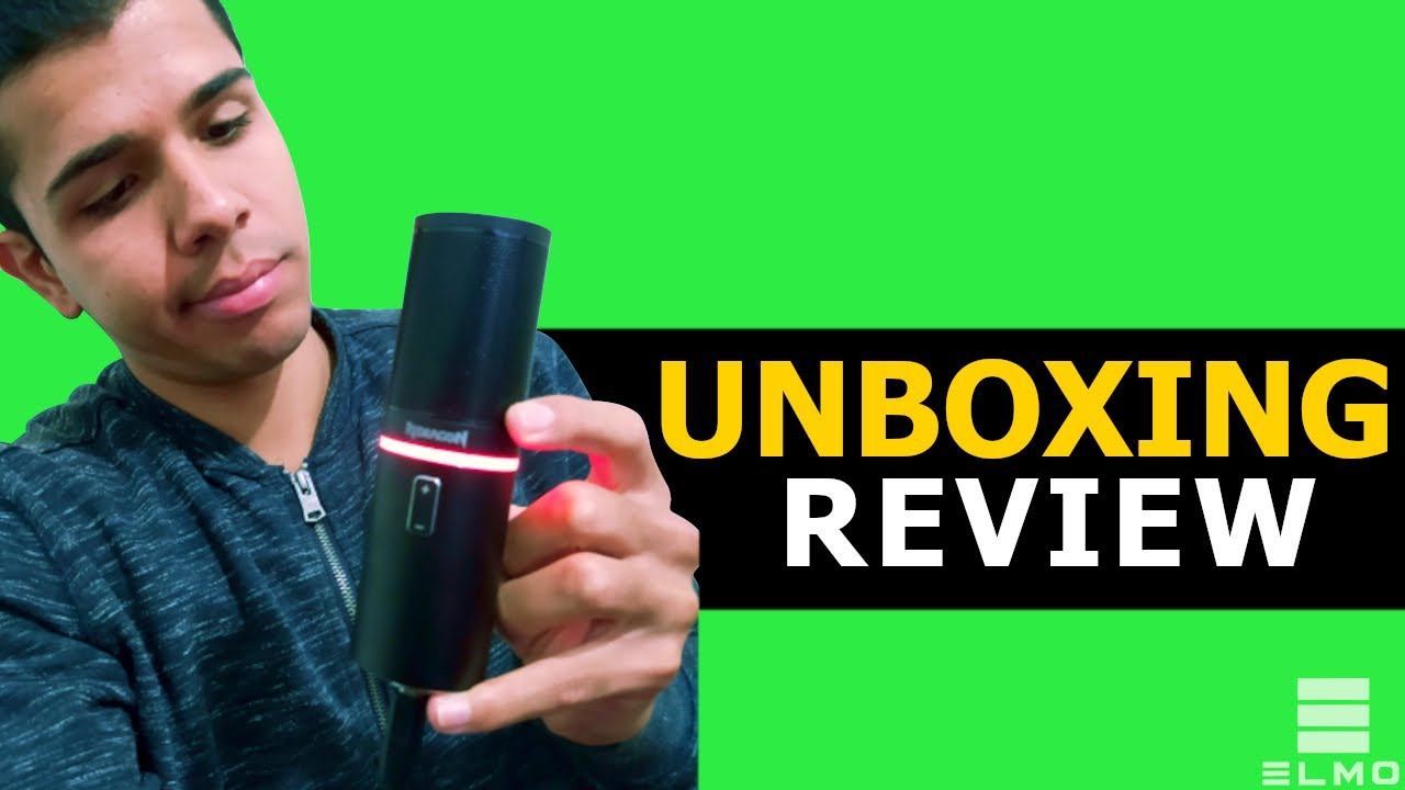 Microfone Condensador Gamer Redragon Blazar GM300   Unboxing e Review - Elmo