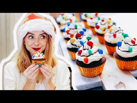 Gingerbread Christmas Light Cupcakes   Zoella   AD
