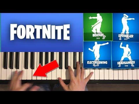 *NEW* LEAKED FORTNITE DANCES ON PIANO (Headbanger, Electro Swing, Sprinkler, Behold)