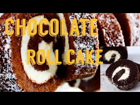 Download Chocolate roll cake / chocalate swiss roll cake