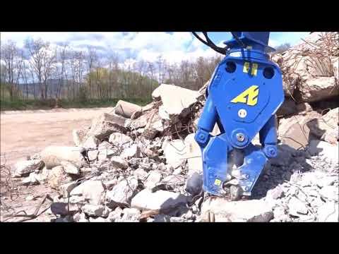 Утилизация бетона и отделение арматур гидроножницы CU007