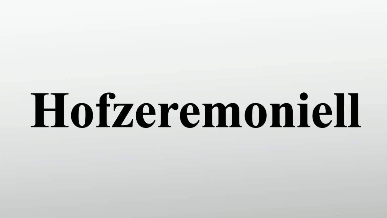 huge discount 1e0d1 51567 Hofzeremoniell