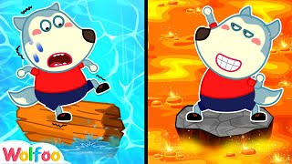 Lava or Water, Which One Can You Pass, Wolfoo? Amazing Stories for Kids| Wolfoo Channel Kids Cartoon