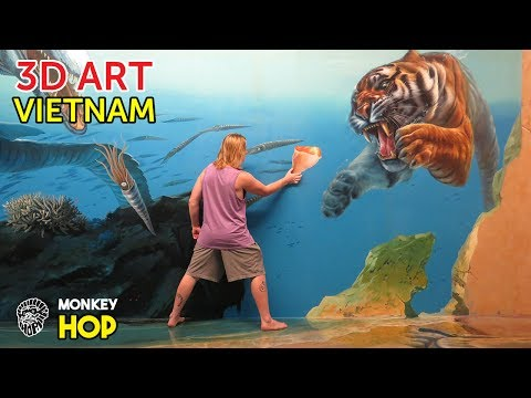 Monkey Hop does 3D Art and Sky Scrapers Drone Flight, Ho Chi Minh City, Vietnam