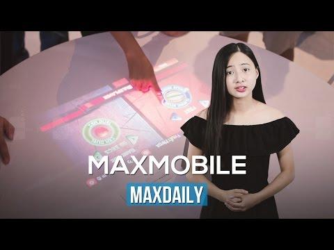 MaxDaily 06/09: Sony trình diễn máy chiếu tích hợp cảm ứng