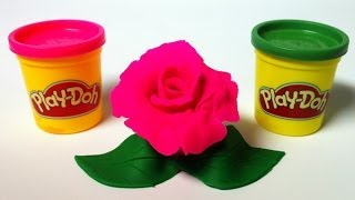 Play Doh flower rose pink PlayDough