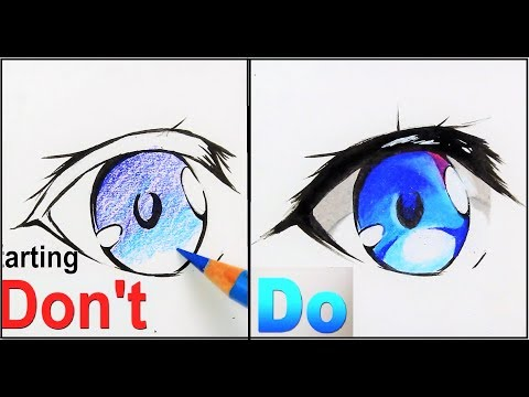 DON't VS DO :How To Draw Anime Eyes | Drawing Tutorial